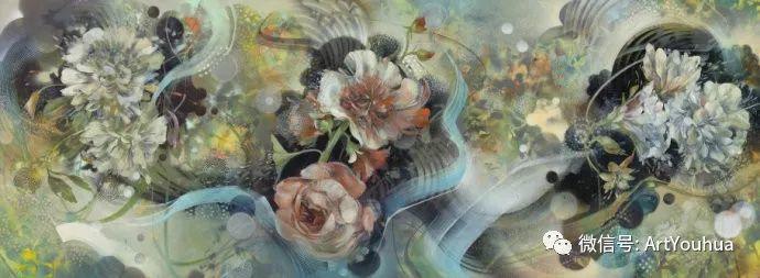 花卉 意大利抽派画家Carmelo blandino作品插图37