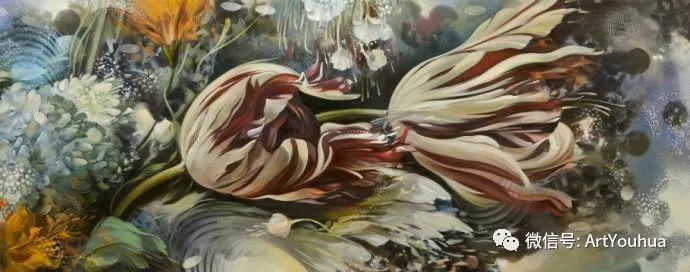 花卉 意大利抽派画家Carmelo blandino作品插图39