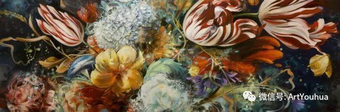 花卉 意大利抽派画家Carmelo blandino作品插图41