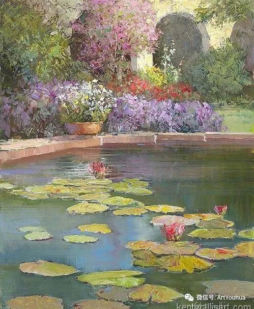 印象风景油画欣赏  美国Kent.R.Wallis作品二插图7