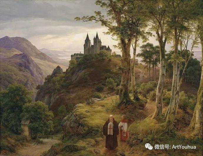 风景人物油画 德国Karl Friedrich Lessing作品插图3