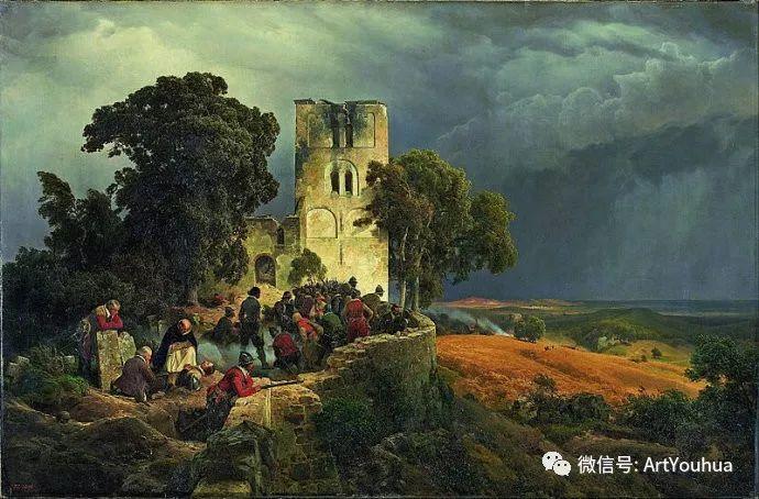 风景人物油画 德国Karl Friedrich Lessing作品插图5