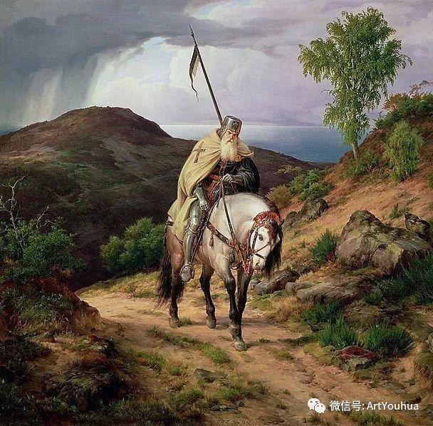 风景人物油画 德国Karl Friedrich Lessing作品插图7