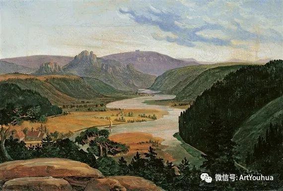 风景人物油画 德国Karl Friedrich Lessing作品插图9