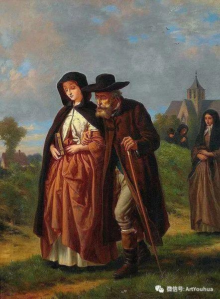 风景人物油画 德国Karl Friedrich Lessing作品插图11