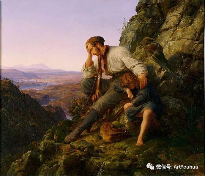 风景人物油画 德国Karl Friedrich Lessing作品插图23