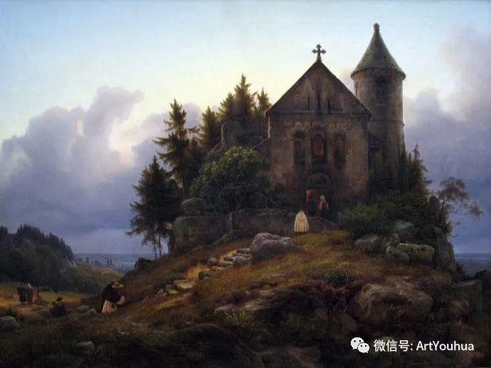 风景人物油画 德国Karl Friedrich Lessing作品插图29
