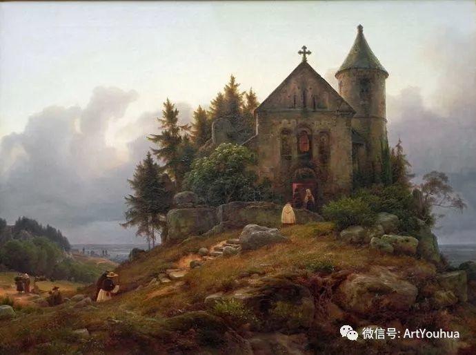 风景人物油画 德国Karl Friedrich Lessing作品插图33