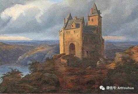风景人物油画 德国Karl Friedrich Lessing作品插图59