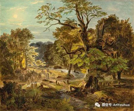 风景人物油画 德国Karl Friedrich Lessing作品插图61
