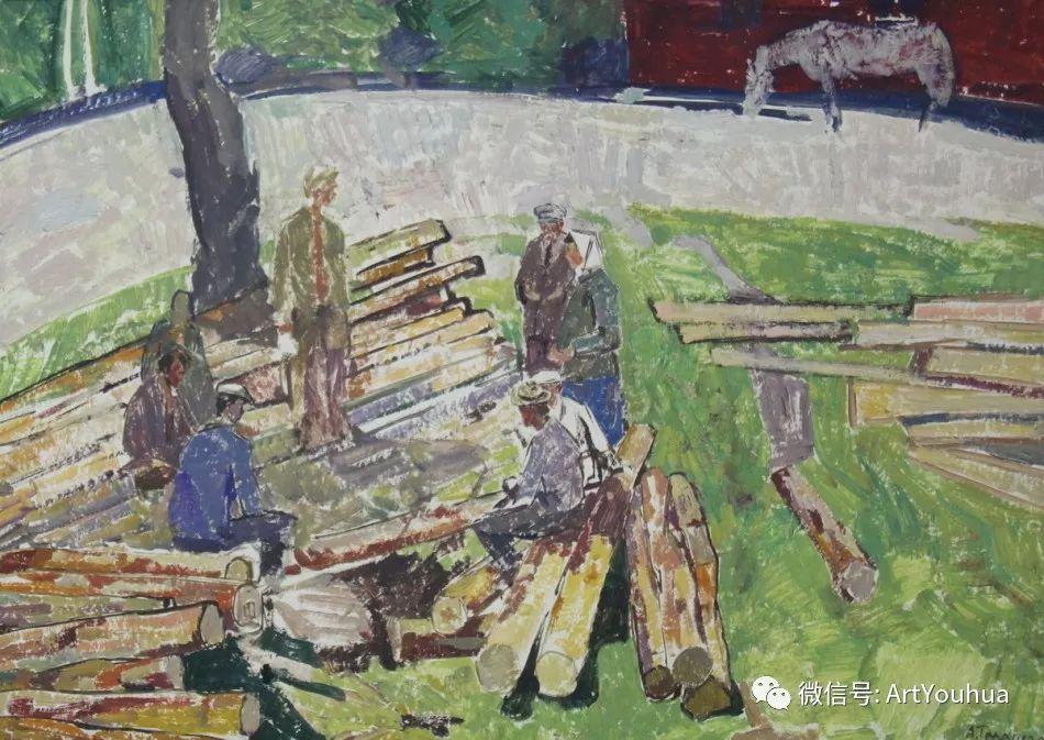中俄艺术家50年代后期油画即景小品展作品插图79