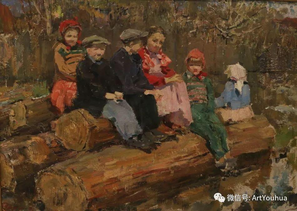 中俄艺术家50年代后期油画即景小品展作品插图119
