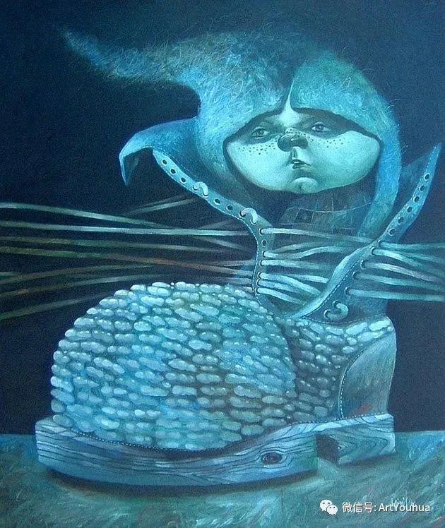 超现实肖像 Laimonas Smergelis绘画欣赏插图41