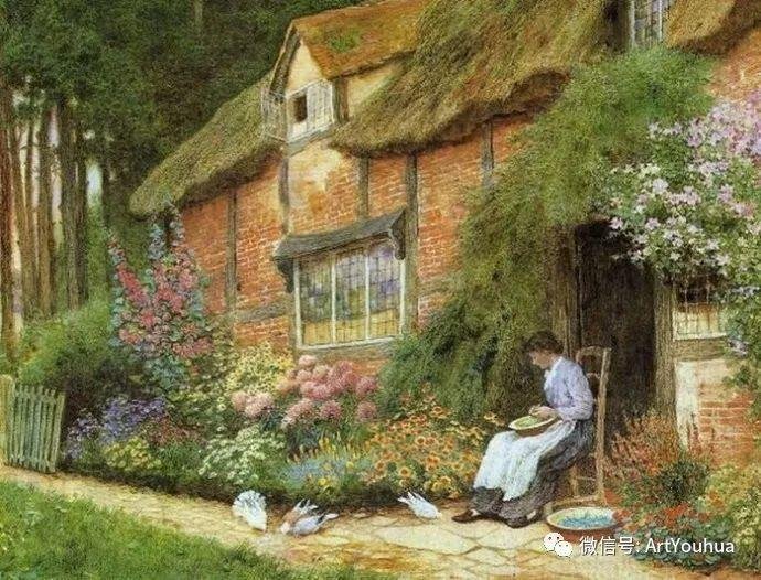 风景 英国画家Arthur Claude Strachan插图9