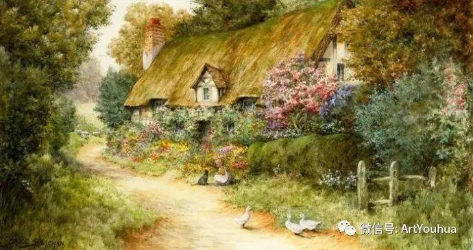 风景 英国画家Arthur Claude Strachan插图11