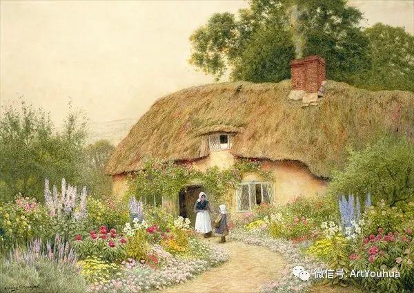 风景 英国画家Arthur Claude Strachan插图13