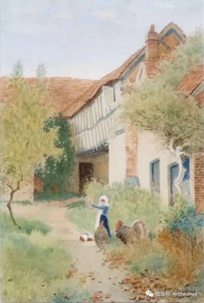 风景 英国画家Arthur Claude Strachan插图15