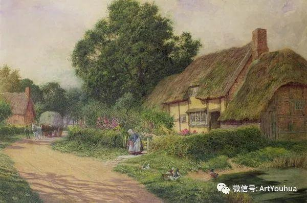 风景 英国画家Arthur Claude Strachan插图23