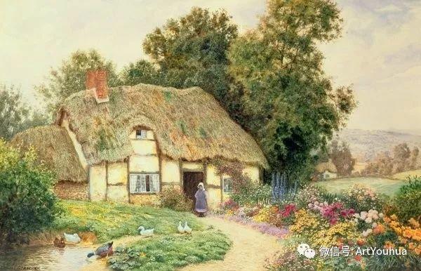 风景 英国画家Arthur Claude Strachan插图39