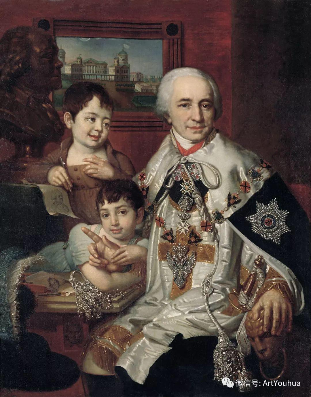 精美古典人物 俄罗斯画家Vladimir Borovikovsky插图83