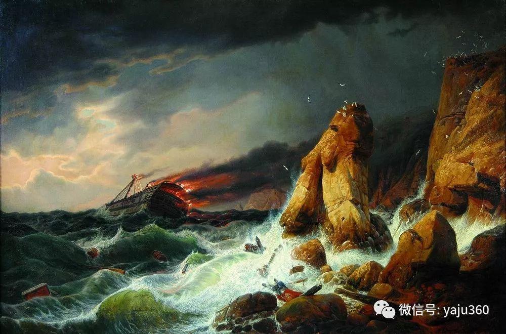 海洋景观 俄罗斯画家Alexey Bogolyubov插图9
