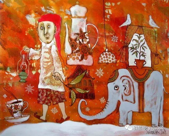 回到童年 白俄罗斯Anna Silivonchik绘画欣赏插图6