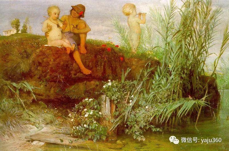 象征主义 瑞士画家Arnold bocklin插图19