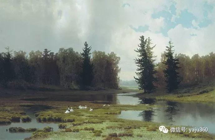 静谧古典风景油画 俄罗斯Meshchersky Arseny插图9