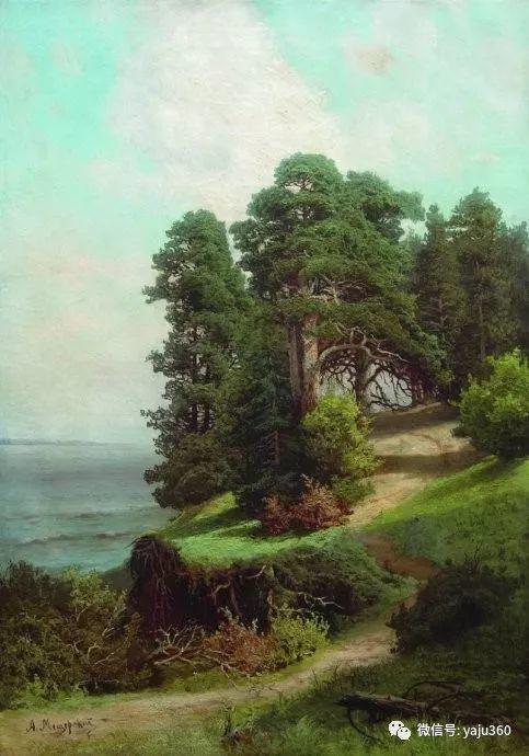 静谧古典风景油画 俄罗斯Meshchersky Arseny插图29