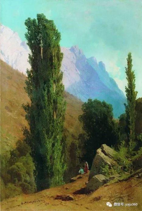 静谧古典风景油画 俄罗斯Meshchersky Arseny插图47