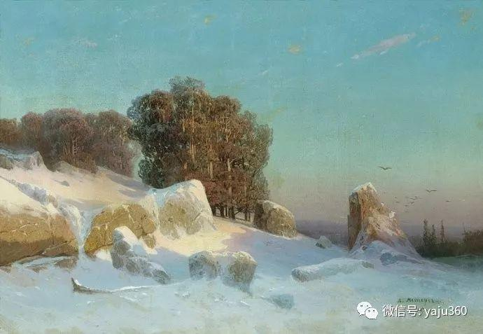 静谧古典风景油画 俄罗斯Meshchersky Arseny插图53