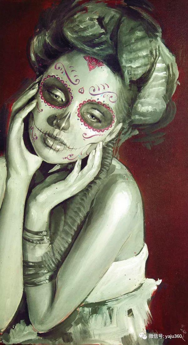 肖像绘画 Jorge Monreal作品欣赏插图