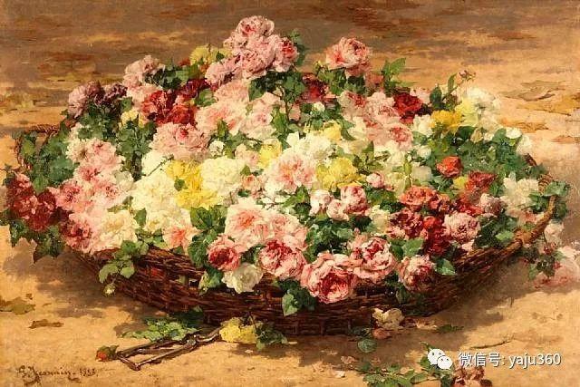 花卉静物 法国画家Georges Jeannin插图1