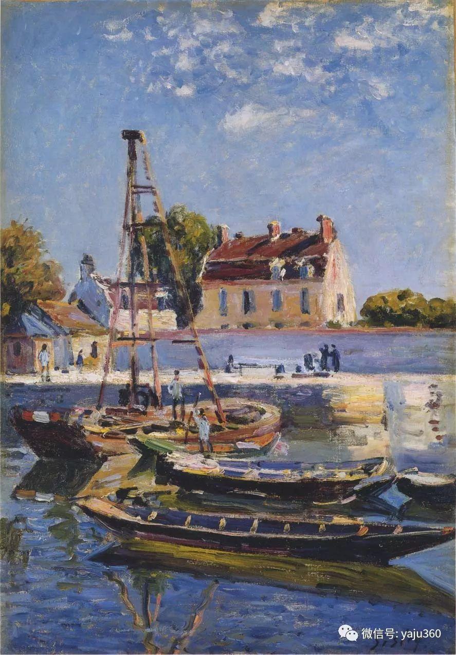 早年与莫奈是同学 法国Alfred Sisley插图15