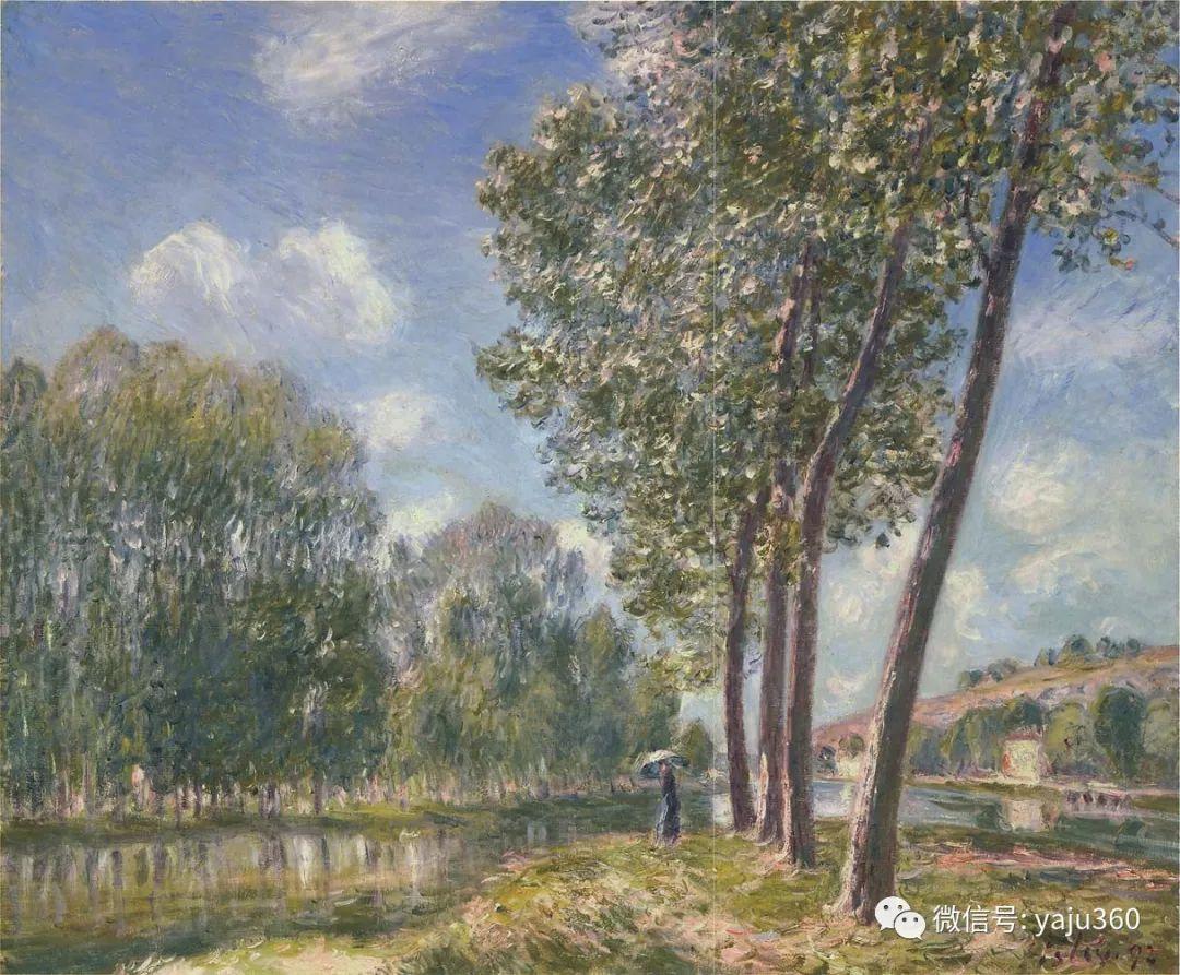 早年与莫奈是同学 法国Alfred Sisley插图23