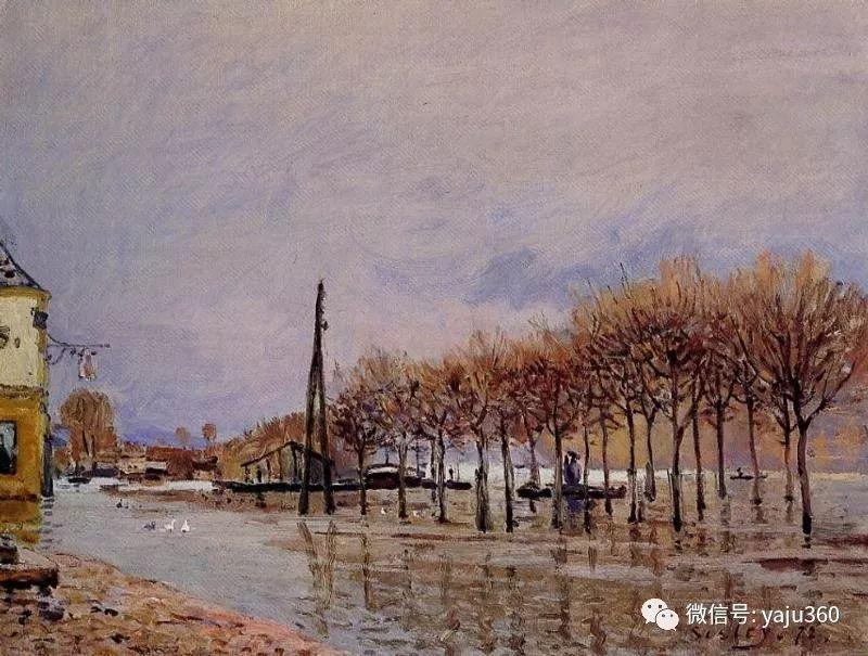 早年与莫奈是同学 法国Alfred Sisley插图61