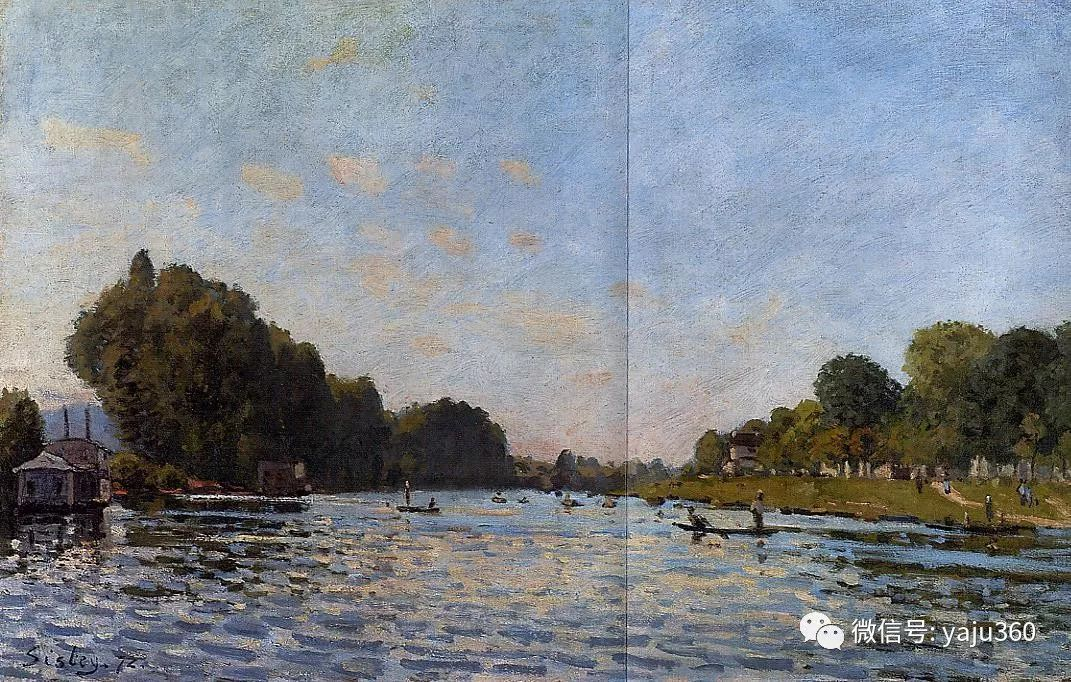 早年与莫奈是同学 法国Alfred Sisley插图85