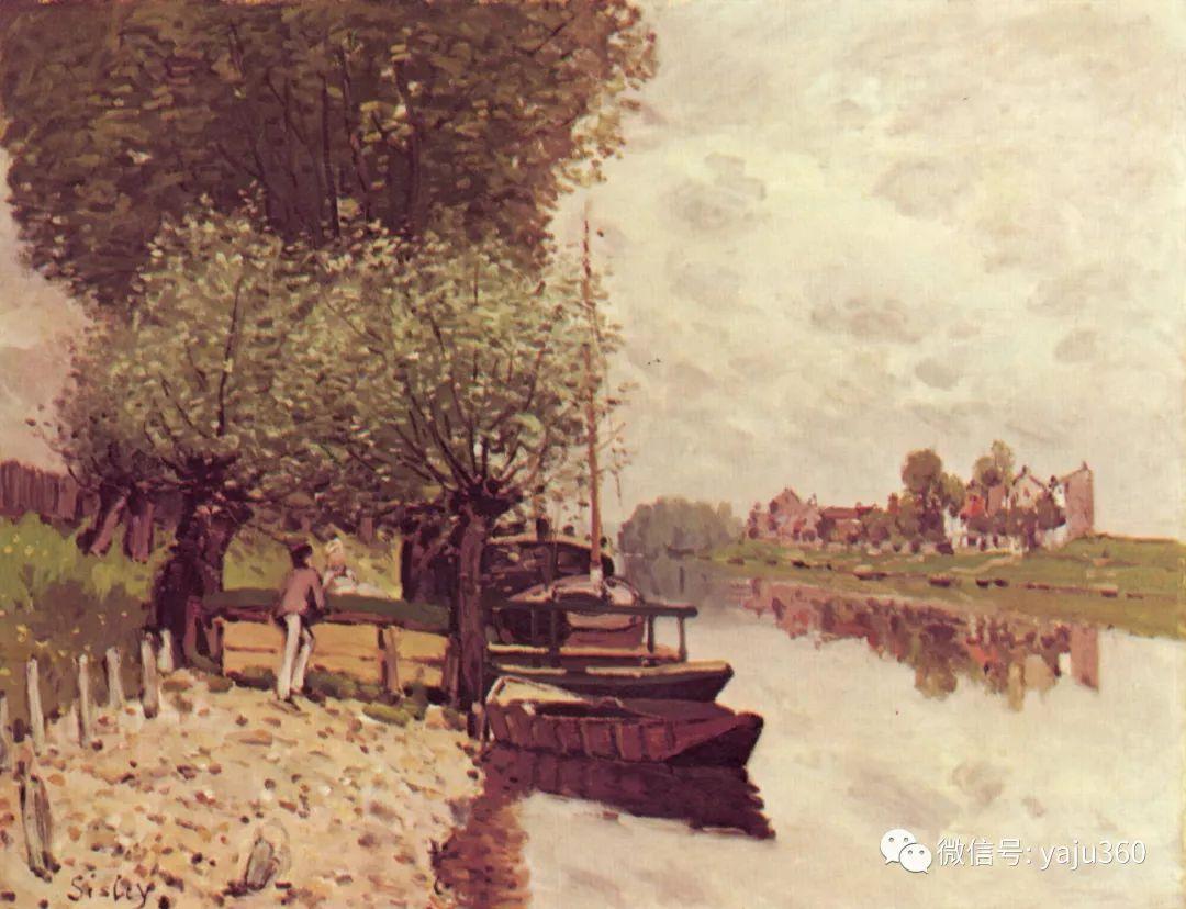早年与莫奈是同学 法国Alfred Sisley插图87