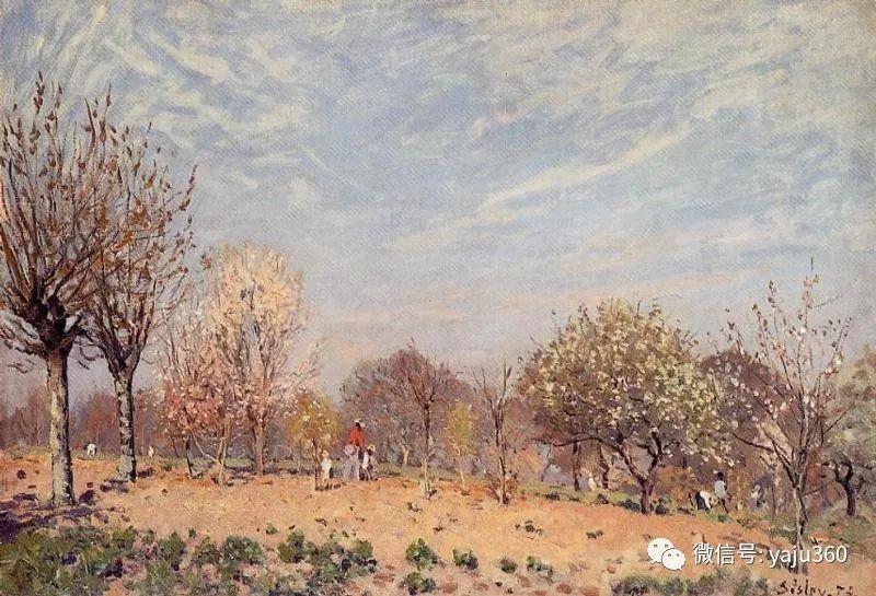 早年与莫奈是同学 法国Alfred Sisley插图97