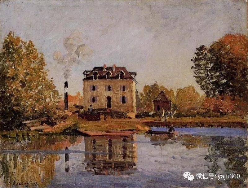 早年与莫奈是同学 法国Alfred Sisley插图107