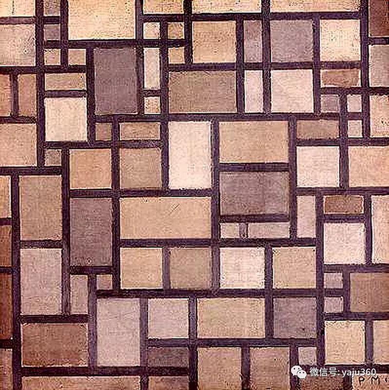 抽象风格派  荷兰画家Piet Mondrian插图69
