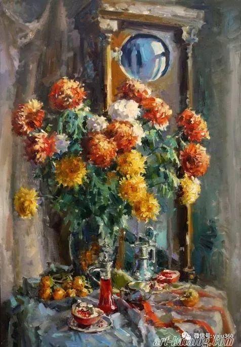 花卉风景 乌克兰女画家Zyuzkova Natalia插图25