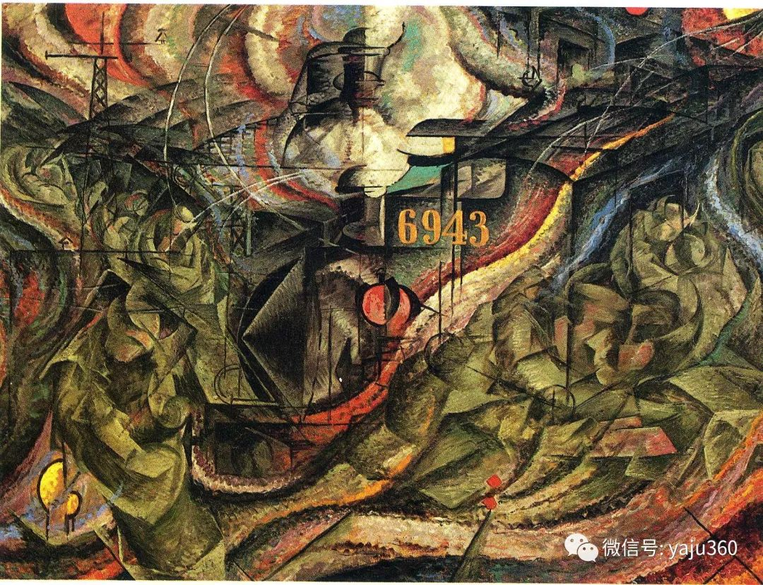 未来主义 意大利画家Umberto Boccioni插图41