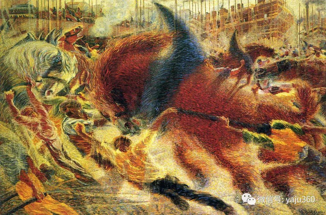 未来主义 意大利画家Umberto Boccioni插图47