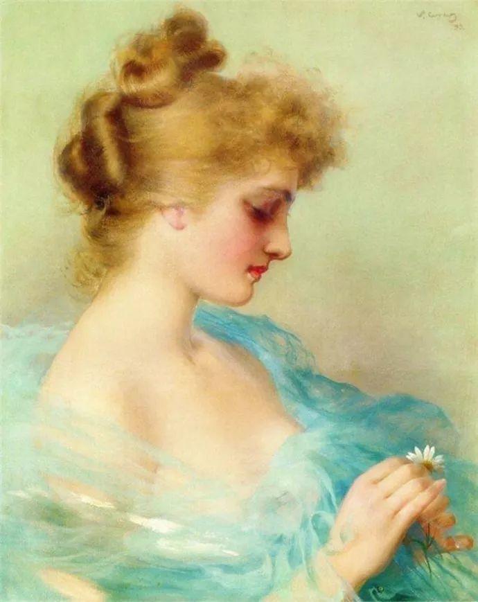 女性肖像油画 意大利Vittorio Matteo Corcos插图