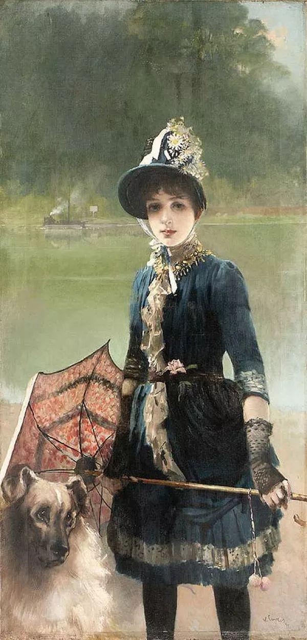 女性肖像油画 意大利Vittorio Matteo Corcos插图3