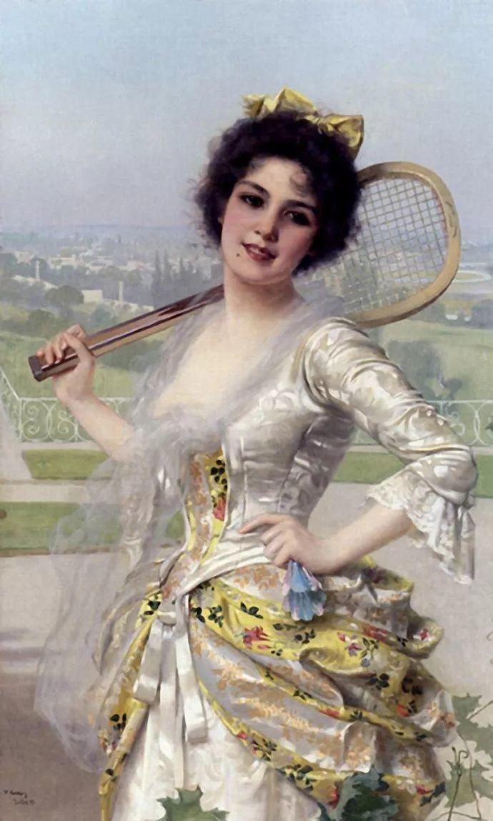 女性肖像油画 意大利Vittorio Matteo Corcos插图6