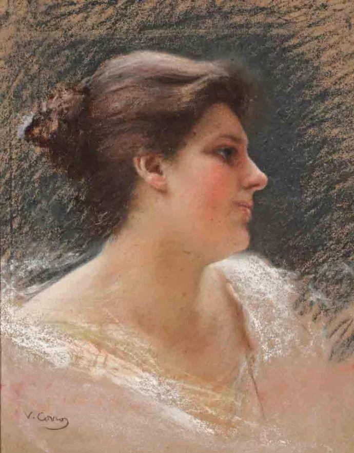 女性肖像油画 意大利Vittorio Matteo Corcos插图7