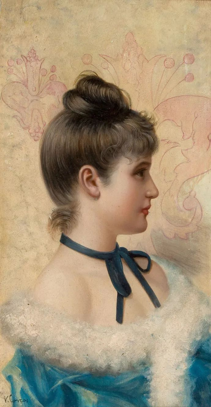 女性肖像油画 意大利Vittorio Matteo Corcos插图8