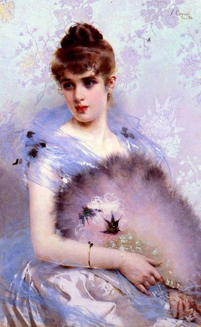 女性肖像油画 意大利Vittorio Matteo Corcos插图10